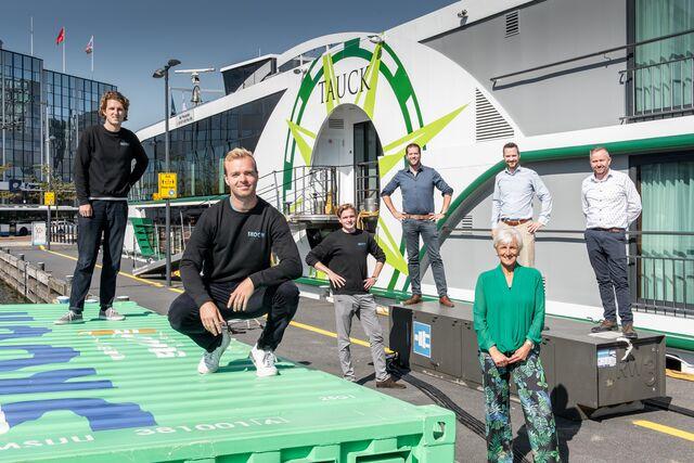 Groene walstroom schepen Amsterdamse haven