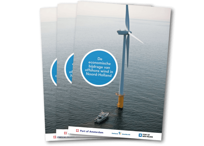 De omslag van het rapport over offshore wind in Noord-Holland