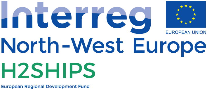 Logo interreg north west Europe h2ships