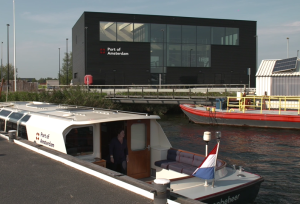 Amsterdamse haven waterstof schepen