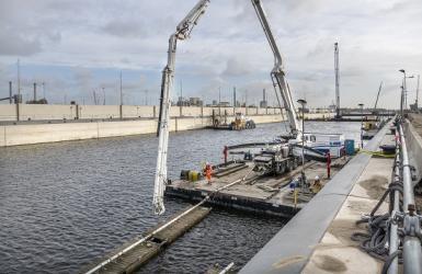 Onderwaterbeton Zeesluis IJmuiden