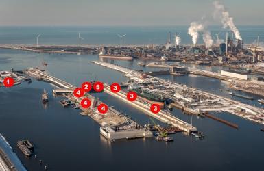 update bouw nieuwe zeesluis maart april 2021
