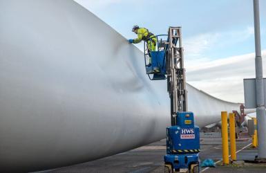 Windturbine bij TMA Logistics